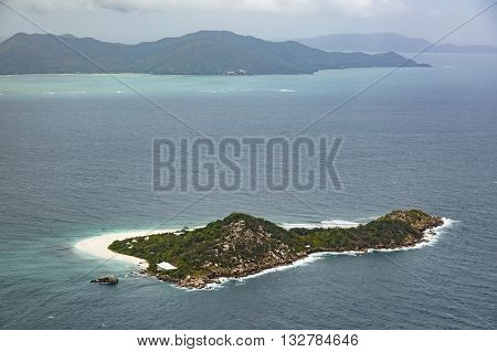 Cousine Island Aerial View From A Plane Seychelles