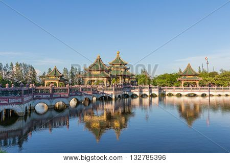 Sala of Ramayana Pavilion in the Ancient Siam Thailand