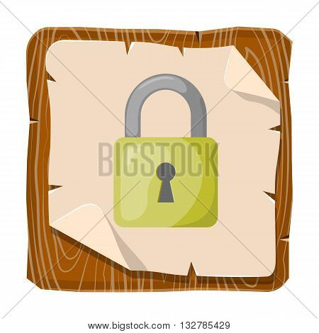 Vector colorful lock icon an blue background
