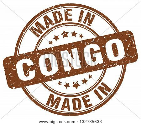 made in Congo brown round vintage stamp.Congo stamp.Congo seal.Congo tag.Congo.Congo sign.Congo.Congo label.stamp.made.in.made in.
