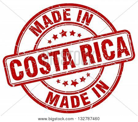 made in Costa Rica red round vintage stamp.Costa Rica stamp.Costa Rica seal.Costa Rica tag.Costa Rica.Costa Rica sign.Costa.Rica.Costa Rica label.stamp.made.in.made in.