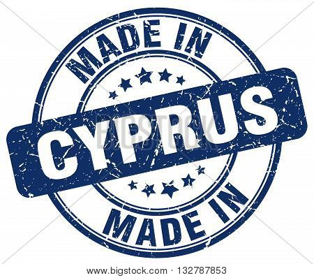 made in Cyprus blue round vintage stamp.Cyprus stamp.Cyprus seal.Cyprus tag.Cyprus.Cyprus sign.Cyprus.Cyprus label.stamp.made.in.made in.