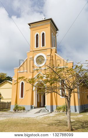 St. Mary's Church in La Digue, Seychelles