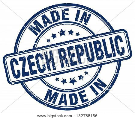 made in Czech Republic blue round vintage stamp.Czech Republic stamp.Czech Republic seal.Czech Republic tag.Czech Republic.Czech Republic sign.Czech.Republic.Czech Republic label.stamp.made.in.made in.