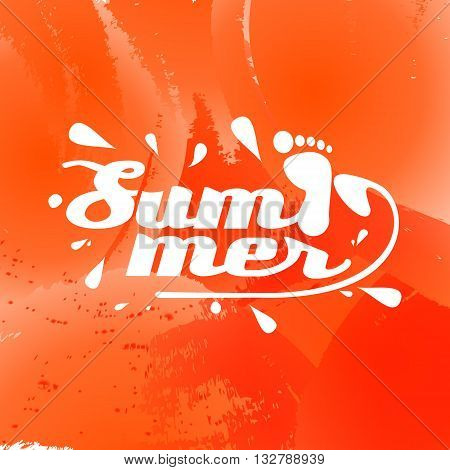 summer background with the inscription in vector format eps10