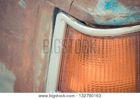 Taillight Of Vintage Car