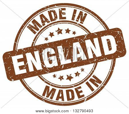made in England brown round vintage stamp.England stamp.England seal.England tag.England.England sign.England.England label.stamp.made.in.made in.