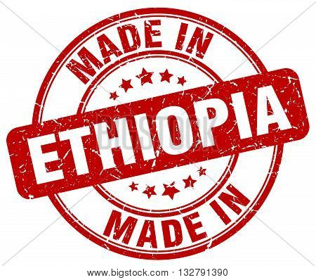 made in Ethiopia red round vintage stamp.Ethiopia stamp.Ethiopia seal.Ethiopia tag.Ethiopia.Ethiopia sign.Ethiopia.Ethiopia label.stamp.made.in.made in.