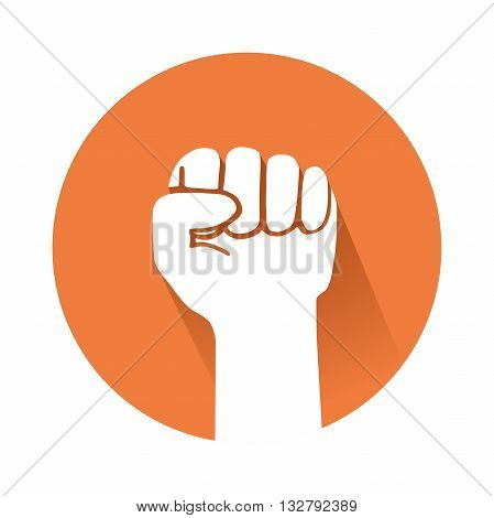 This is an illustration of a raised fist