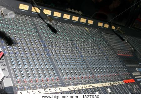 Soundboard With Analog Vu Meters