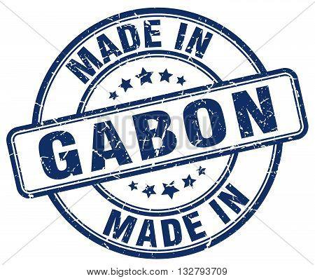 made in Gabon blue round vintage stamp.Gabon stamp.Gabon seal.Gabon tag.Gabon.Gabon sign.Gabon.Gabon label.stamp.made.in.made in.