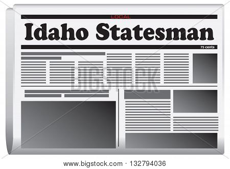 Newspaper in Idaho State - Idaho Statesman. Vector illustration.