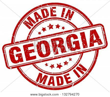 made in Georgia red round vintage stamp.Georgia stamp.Georgia seal.Georgia tag.Georgia.Georgia sign.Georgia.Georgia label.stamp.made.in.made in.