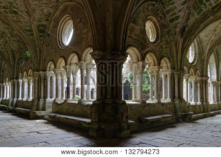 FONTFROIDE FRANCE May 28 2016 : Fontfroide Abbey or Abbaye Sainte-Marie de Fontfroide is a former Cistercian monastery. It has been restored over a number of years and used as a centre for artistic projects.