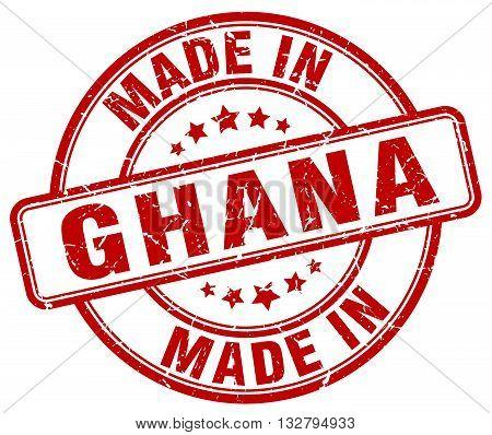 made in Ghana red round vintage stamp.Ghana stamp.Ghana seal.Ghana tag.Ghana.Ghana sign.Ghana.Ghana label.stamp.made.in.made in.