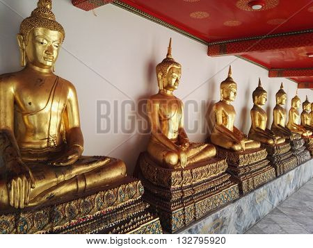 Wat Pho known also as the Temple of the Reclining Buddha. Thailand, Bangkok