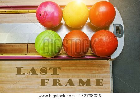 The Word Last Frame Background Bowling Balls