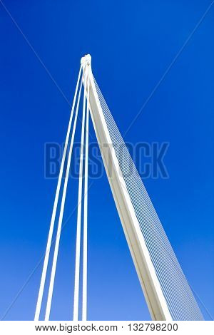 VALENCIA, SPAIN - SEPTEMBER 30, 2012: Detail of the City of Arts and Sciences in Valencia Spain. City was Designed by Santiago Calatrava and Felix Candela and was finished at 1998.