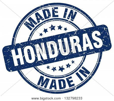 made in Honduras blue round vintage stamp.Honduras stamp.Honduras seal.Honduras tag.Honduras.Honduras sign.Honduras.Honduras label.stamp.made.in.made in.