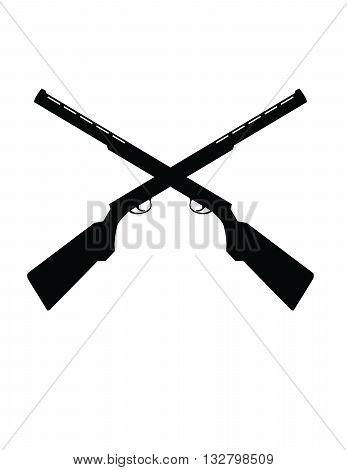 crossed shotguns for trap shooting team logo