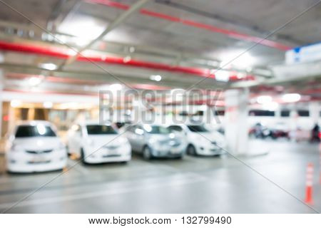 Car Park In Shopping Mall Blurred