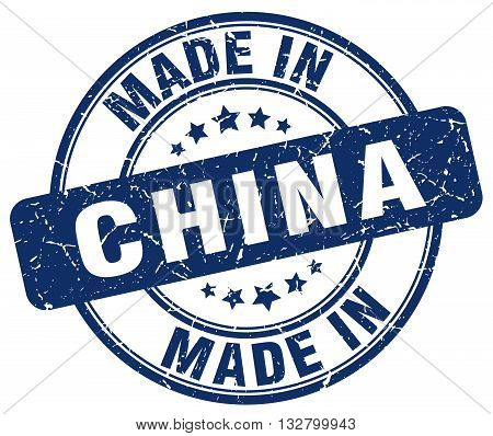 made in China blue round vintage stamp.China stamp.China seal.China tag.China.China sign.China.China label.stamp.made.in.made in.