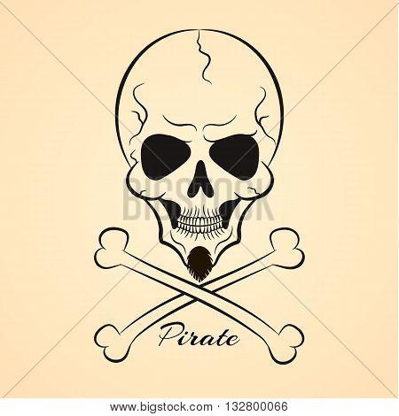 Skull and cross-bones a mark of the danger warning