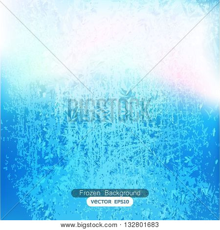 Abstract frozen background texture vector design template