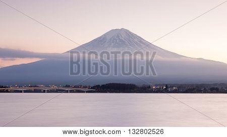 Fuji Mountain with Kawakujigo lake front view, Natural landscape background