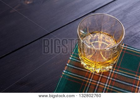 Scotch Whisky On Tartan