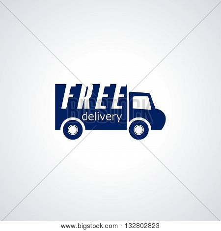 Free delivery, Free shipping, 24 hour and fast delivery icon vector