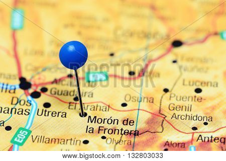 Moron de la Frontera pinned on a map of Spain
