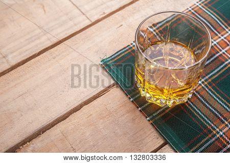 Scotch Whisky On Tartan
