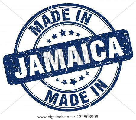 made in Jamaica blue round vintage stamp.Jamaica stamp.Jamaica seal.Jamaica tag.Jamaica.Jamaica sign.Jamaica.Jamaica label.stamp.made.in.made in.