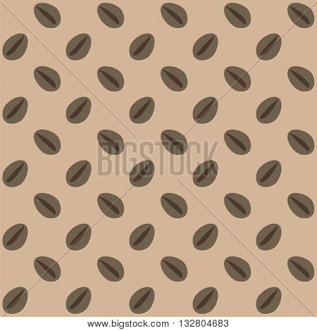 Coffee beans seamless pattern. Background with coffee beans.