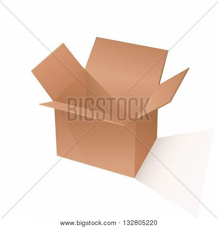 brown box packaging. vector illustration on white backgrond