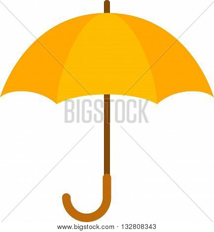 Umbrella flat icon. Yellow umbrella. Summer umbrella