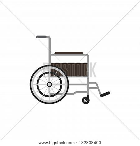 Wheelchair icon isolated on white background. Medical wheelchair