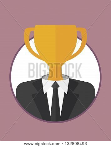 Businessman Character Icons With Cup
