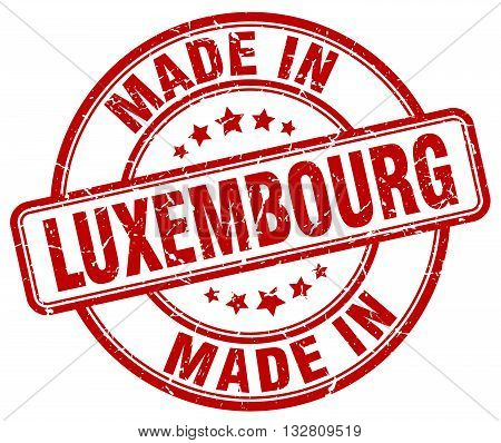 made in Luxembourg red round vintage stamp.Luxembourg stamp.Luxembourg seal.Luxembourg tag.Luxembourg.Luxembourg sign.Luxembourg.Luxembourg label.stamp.made.in.made in.