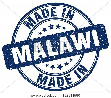 made in Malawi blue round vintage stamp.Malawi stamp.Malawi seal.Malawi tag.Malawi.Malawi sign.Malawi.Malawi label.stamp.made.in.made in.