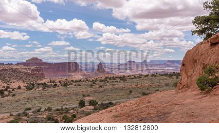 View from Whale Rock, in the Islands in the Sky District of Canyonlands National Park, near Moab, Utah.