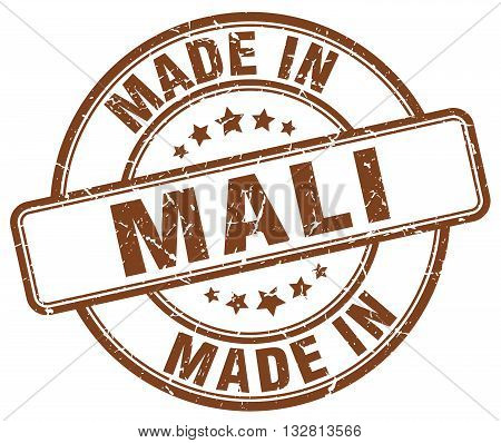 made in Mali brown round vintage stamp.Mali stamp.Mali seal.Mali tag.Mali.Mali sign.Mali.Mali label.stamp.made.in.made in.