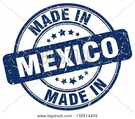 made in Mexico blue round vintage stamp.Mexico stamp.Mexico seal.Mexico tag.Mexico.Mexico sign.Mexico.Mexico label.stamp.made.in.made in.