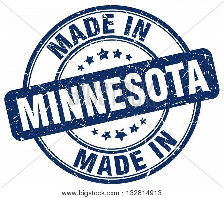 made in Minnesota blue round vintage stamp.Minnesota stamp.Minnesota seal.Minnesota tag.Minnesota.Minnesota sign.Minnesota.Minnesota label.stamp.made.in.made in.