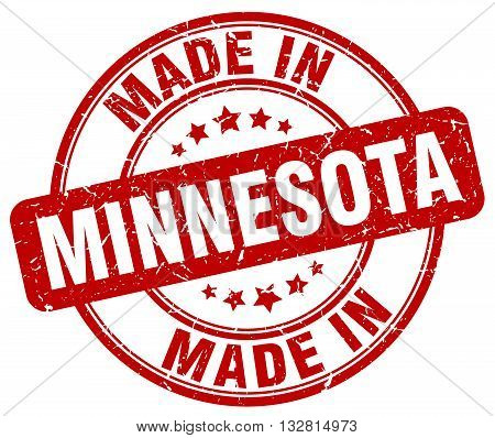 made in Minnesota red round vintage stamp.Minnesota stamp.Minnesota seal.Minnesota tag.Minnesota.Minnesota sign.Minnesota.Minnesota label.stamp.made.in.made in.