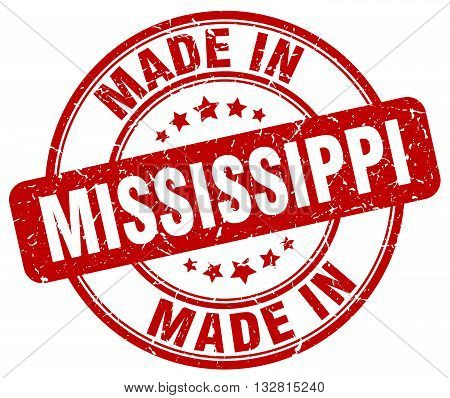 made in Mississippi red round vintage stamp.Mississippi stamp.Mississippi seal.Mississippi tag.Mississippi.Mississippi sign.Mississippi.Mississippi label.stamp.made.in.made in.