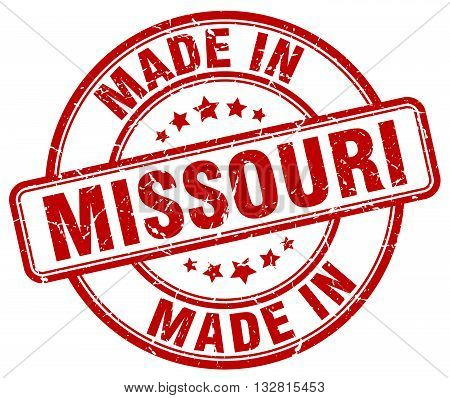made in Missouri red round vintage stamp.Missouri stamp.Missouri seal.Missouri tag.Missouri.Missouri sign.Missouri.Missouri label.stamp.made.in.made in.
