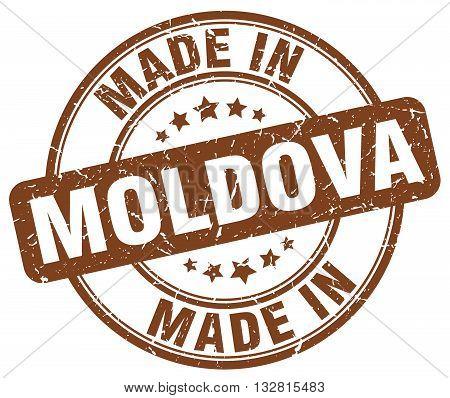 made in Moldova brown round vintage stamp.Moldova stamp.Moldova seal.Moldova tag.Moldova.Moldova sign.Moldova.Moldova label.stamp.made.in.made in.