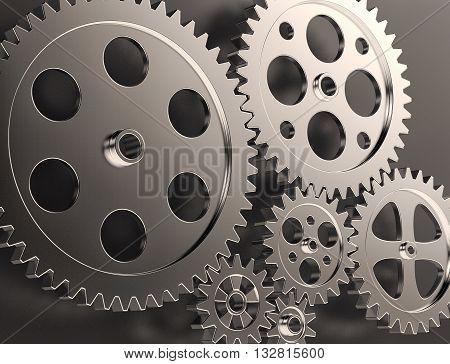 Steel Gear And Cogwheels
